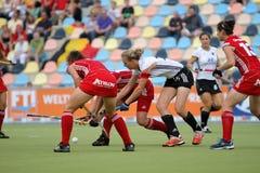 Europäisches Cup Deutschland 2011 Deutschland-V Belgium.Hockey Stockfotos