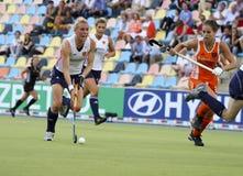 Europäisches Cup Deutschland 2011 England-V Holland.Hockey Stockbilder