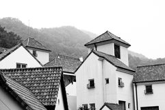 Europäisches Dorf stockfoto