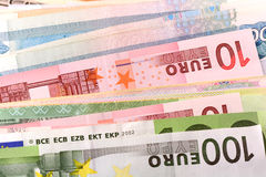 Europäisches Geld, ukrainisches Geld Lizenzfreies Stockbild