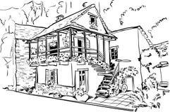 Europäisches Landhaus stock abbildung