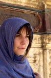 Europäisches Mädchen in Kairo Lizenzfreie Stockfotos