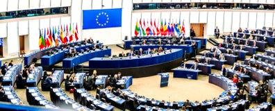 Europäisches Parlament in Straßburg lizenzfreie stockfotografie