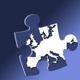 Europäisches Puzzlespiel lizenzfreie abbildung