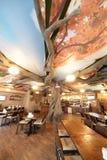 Europäisches Restaurant in den hellen Farben Lizenzfreies Stockfoto