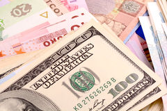 Europäisches und amerikanisches Geld Lizenzfreie Stockfotografie