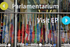 Européen Parlament à Bruxelles, Belgique photographie stock