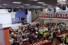 Europén går kongressen 2016 Arkivbilder