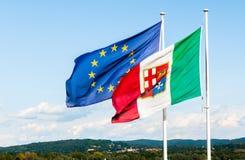 Europén sjunker bakgrund Arkivbilder