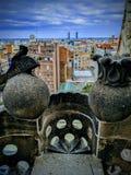 Europ barcelona. Barcelona view evening gothic stock photo