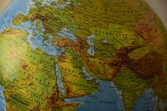 Europa Ásia de África - mapa político altamente detalhado fotos de stock