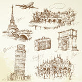 Europa över lopp vektor illustrationer