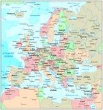 Europa översikt royaltyfri illustrationer