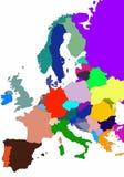 Europa översikt Arkivfoto