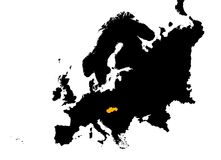 Europa översikt slovakia Arkivfoto