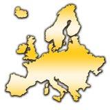 Europa översiktsöversikt royaltyfri fotografi
