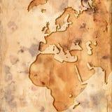Europa översiktsvärld stock illustrationer