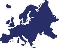 EUROPA ÖVERSIKTSVEKTOR stock illustrationer