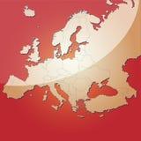 Europa översiktsvektor Royaltyfri Fotografi