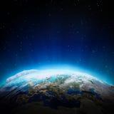 Europa światła przy nocą Zdjęcie Royalty Free