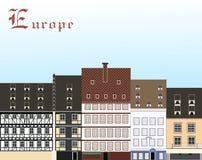 Europa royaltyfri illustrationer