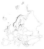 Europa vektor illustrationer