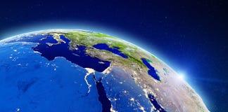Europa, Afrika och Mellanösten royaltyfria bilder