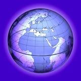 EUROPA AFRIKA VÄRLDSJORDKLOT Royaltyfri Fotografi