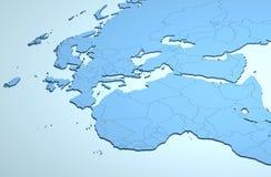 Europa Afryka Środkowy Wschód 3D zdjęcia royalty free