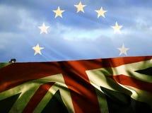 Europa alleen op de horizon Royalty-vrije Stock Fotografie