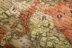 Europa-alte Karte Lizenzfreies Stockbild