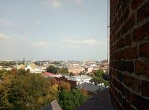 Europa arkitektur, stad, gamla byggnader, Krakow royaltyfri foto