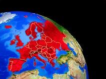 Europa auf Planet Erde lizenzfreie abbildung