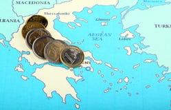 Europa ayuda a Grecia Foto de archivo libre de regalías