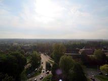 Europa, België, West-Vlaanderen, Brugge, de mening van de stad naar Nederland stock foto