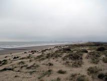 Europa, België, West-Vlaanderen, de Noordzeekust dichtbij de stad van Blankenberge royalty-vrije stock afbeelding