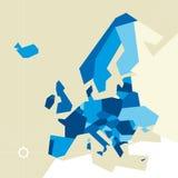 Europa beperkte kaart Royalty-vrije Stock Afbeeldingen
