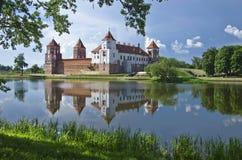 Europa, Bielorussia, storia: Mir Castle Complex Fotografia Stock Libera da Diritti