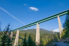 Europa-Brücke, die Österreich mit Italien verbindet Lizenzfreie Stockbilder