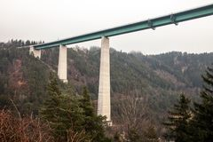 Europa bridge, on the Brenner pass in Italy. royalty free stock photography