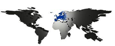 Europa centró el mundo libre illustration