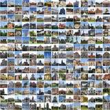 Europa-Collage stockfotos