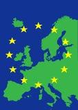 Europa com a bandeira da União Europeia Imagem de Stock