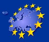 Europa com estrelas Fotografia de Stock Royalty Free