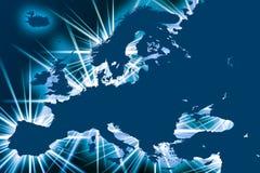 Europa com pontos Fotos de Stock Royalty Free