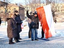 Europa contra ACTA, Lublin, Polonia Imagenes de archivo