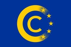 Europa copyright-regler royaltyfri illustrationer
