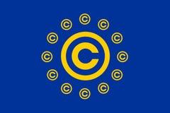 Europa copyright-regler stock illustrationer