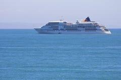 Europa cruise liner in Mossel Bay. The 28,890-ton, 408-passenger Europa, Hapag-Lloyd's upmarket flagship, primarily serves Europe's German-speaking travelers Stock Photo