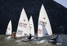 Europa cup lugano 2012. Turn of boa of the regatta europa cup lugano 2012 Royalty Free Stock Images